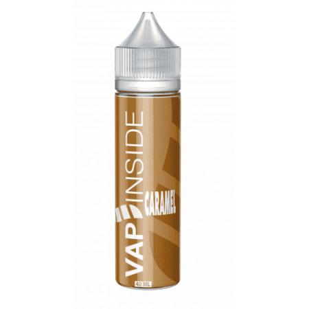 caramel vap'inside 40ml 60ml boostable nicotine eliquide france eliquid pav pret a vaper vape ecig cigarette electronique